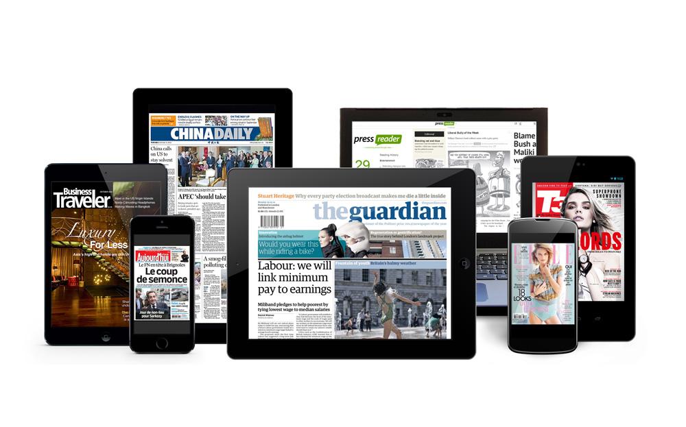 Pressreader - cluster of newspapers