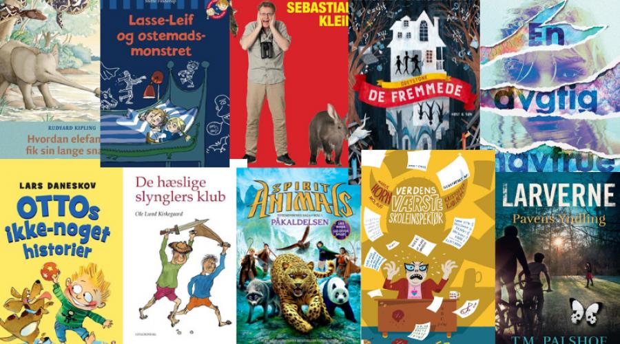 Forsider af flere børnebøger