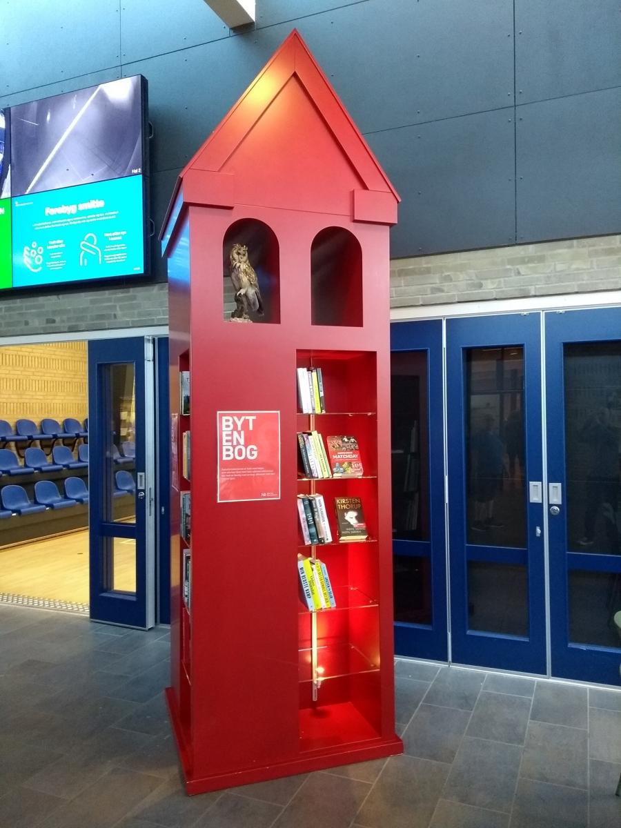 Transformatortårn på Vrå Bibliotek